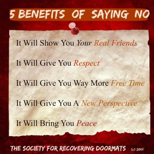 5 Benefits of saying 'no'