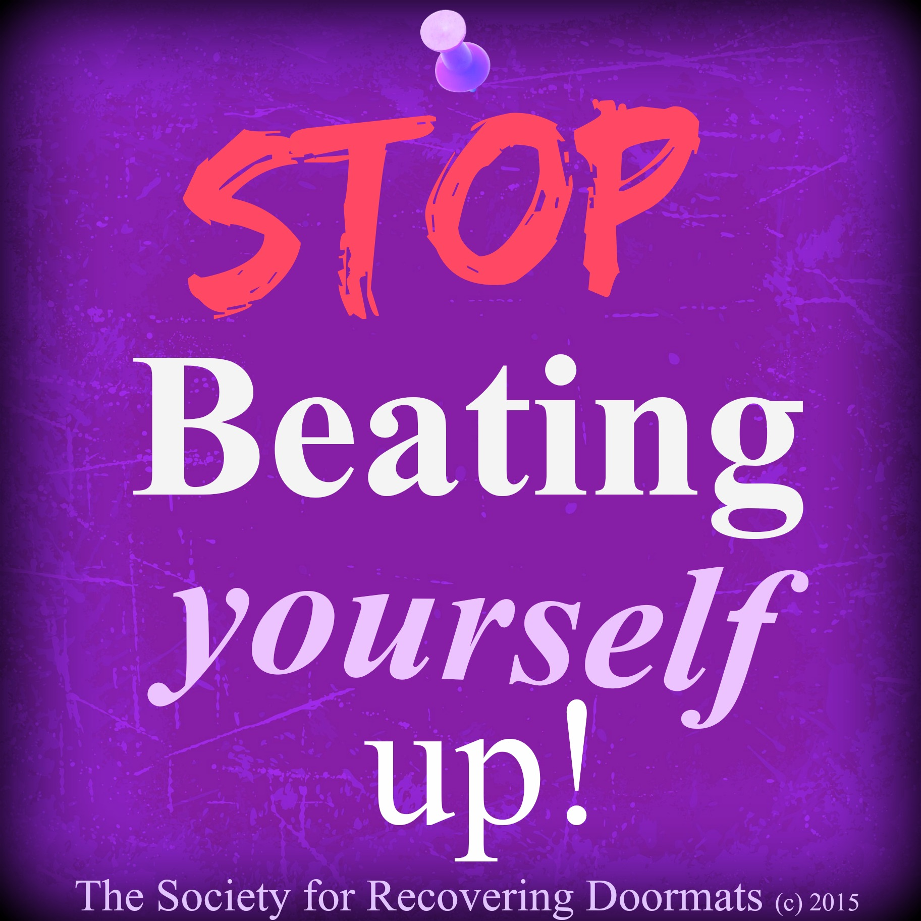 how to stop beating yourself up emotionally