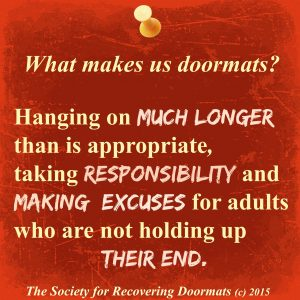 What keeps us doormats
