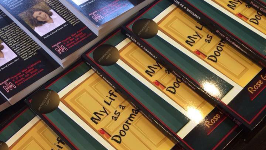 My Life as a Doormat Books Display