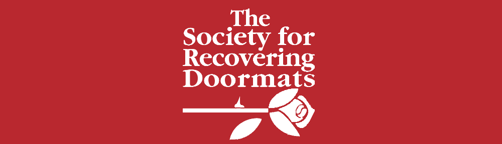 The Society for Recovering Doormats Retina Logo